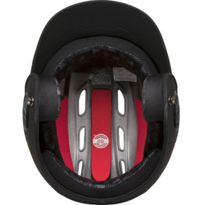 Rawlings 80mph Two-Tone Digi Black Juniors Baseball Helmet