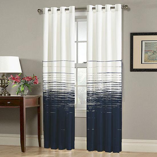 Homewear Thurston Light Filtering Grommet Top Curtain Panel
