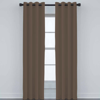 JCPenney Home Made-To-Length Matte Satin Grommet-Top Unlined Curtain Panel
