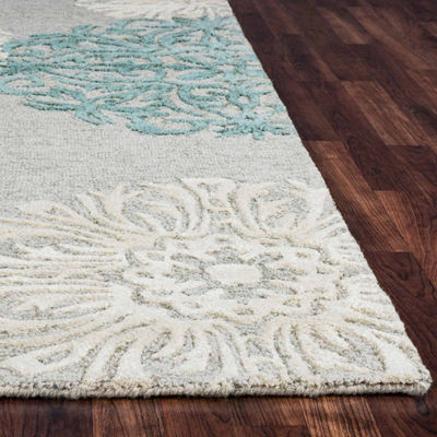 Rizzy Home Dimensions Medallion Rectangular Runner