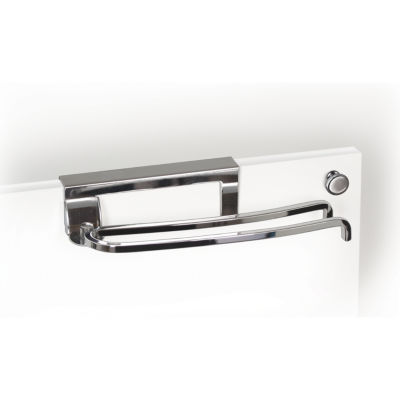 LYNK® Chrome Over-the-Cabinet-Door Pivoting Towel Bar