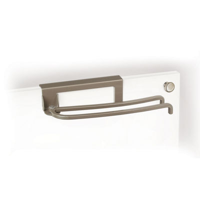 LYNK® Nickel Over-Cabinet-Door Pivoting Towel Bar