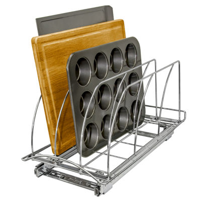 Lynk Professional® Roll-Out Cutting Board and Bakeware Organizer
