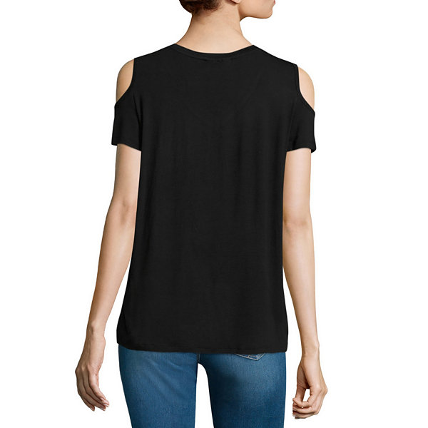 i jeans by Buffalo Cold Shoulder Graphic Top