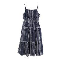 Lilt Little & Big Girls Sleeveless Maxi Dress, Xx-small (4-5) , Blue