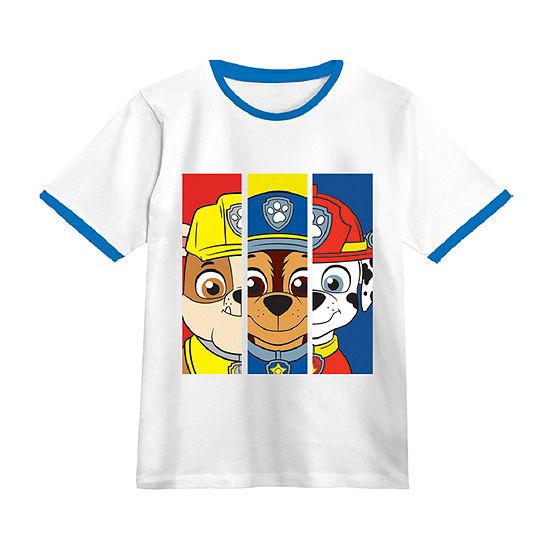 Little Boys Crew Neck Paw Patrol Short Sleeve Graphic T-Shirt