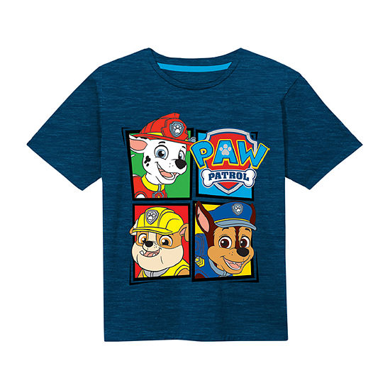 Little Boys Crew Neck Paw Patrol Short Sleeve Graphic T-Shirt