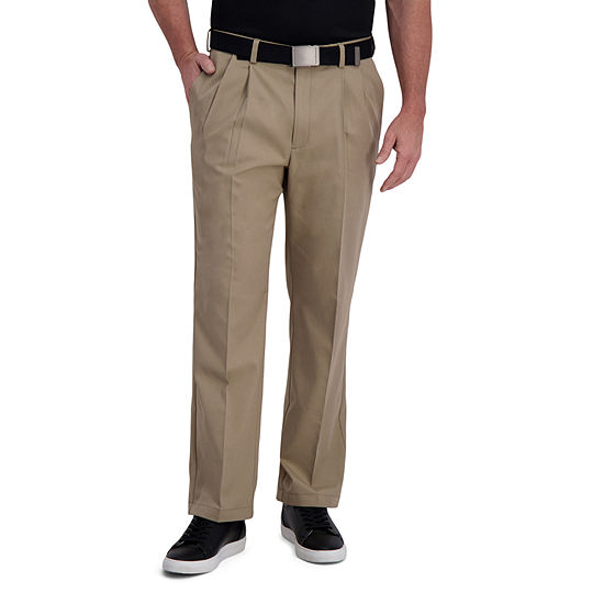 Haggar Cool Right Performance Flex Classic Fit Pleated Men's Pant