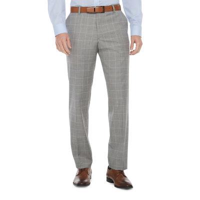 Stafford Super Mens Windowpane Classic Fit Suit Pants