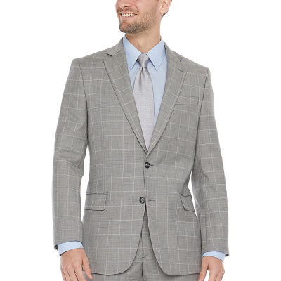 Stafford Super Mens Windowpane Classic Fit Suit Jacket