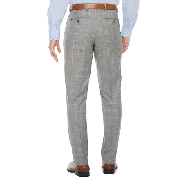 Stafford Mens Windowpane Regular Fit Suit Pants - Big and Tall