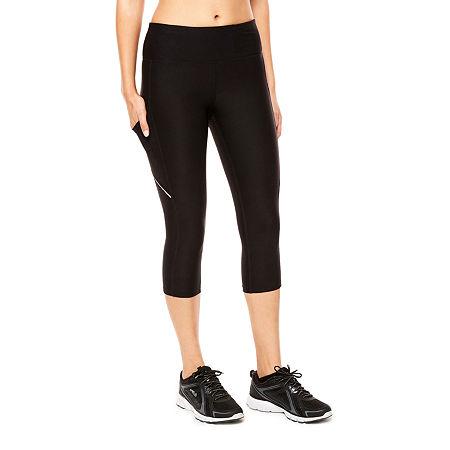 Xersion Womens Mid Rise Capri Leggings, Petite X-small , Black
