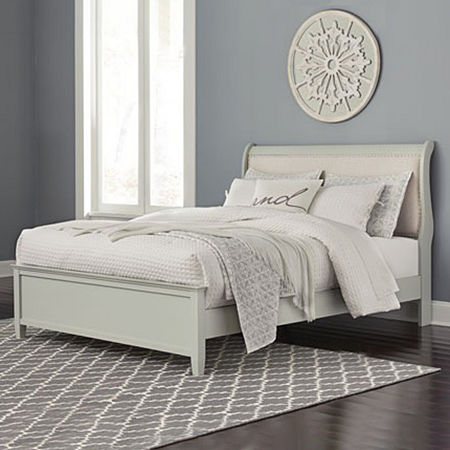 Signature Design by Ashley Jorstad Sleigh Bed, One Size , Gray
