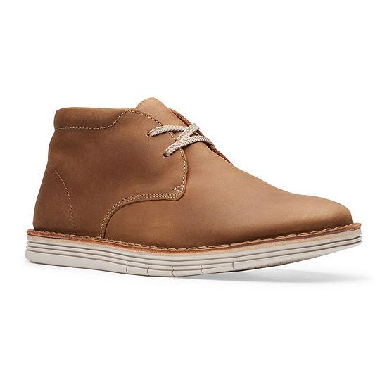 Clarks Mens Forge Stride Chukka Boots Flat Heel