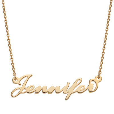 Personalized Womens 14k Gold Over