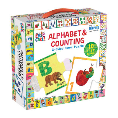 Briarpatch The World Of Eric Carle - Alphabet & Counting 2-Sided Floor Puzzle: 26 Pcs