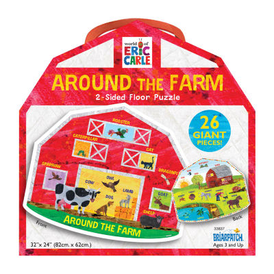 Briarpatch The World Of Eric Carle - Around The Farm 2-Sided Floor Puzzle: 26 Pcs