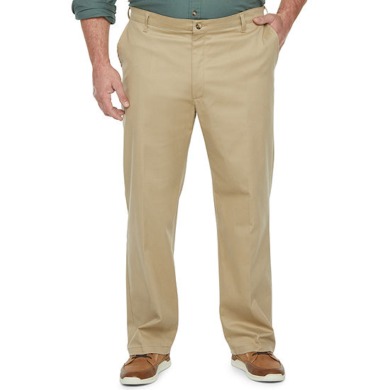 Lee® Total Freedom Men's Relaxed Fit Khaki Pants – Big and Tall