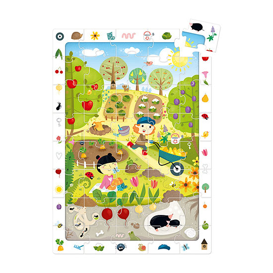Observation Puzzle - Garden: 40 Pcs