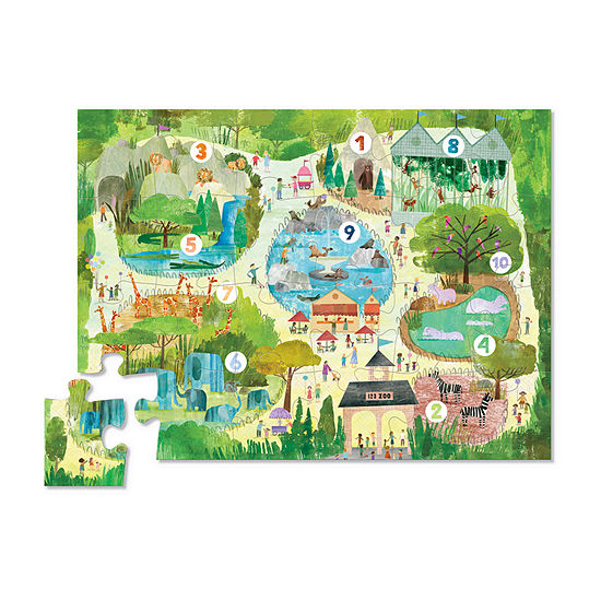 Early Learning - 123 Zoo 24 Pcs Floor Puzzle