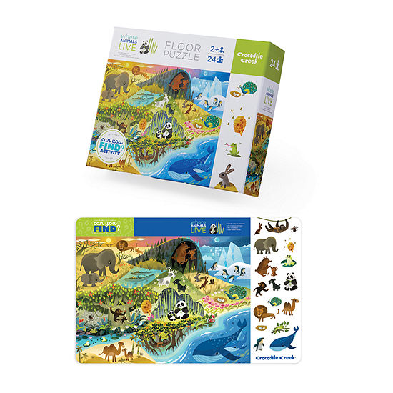 Early Learning - Where Animals Live Floor Puzzle With Placemat: 24 Pcs