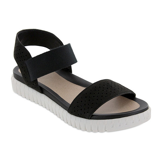 Mia Amore Womens Shanny Ankle Strap Flat Sandals