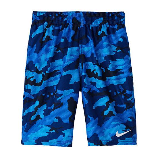 Nike Big Boys Camouflage Swim Trunks