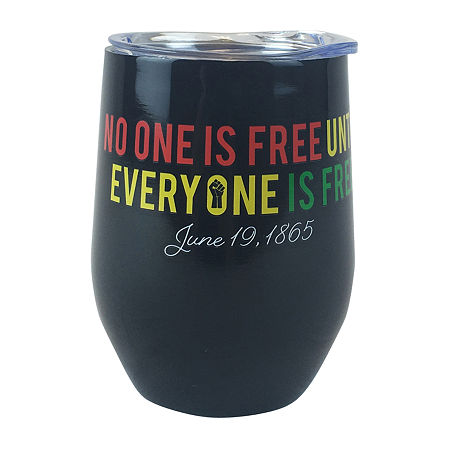 Haynes Besco Group Juneteenth Everyone Is Free Stainless Steel 12 Oz Wine Tumbler Glass, One Size , Multiple Colors