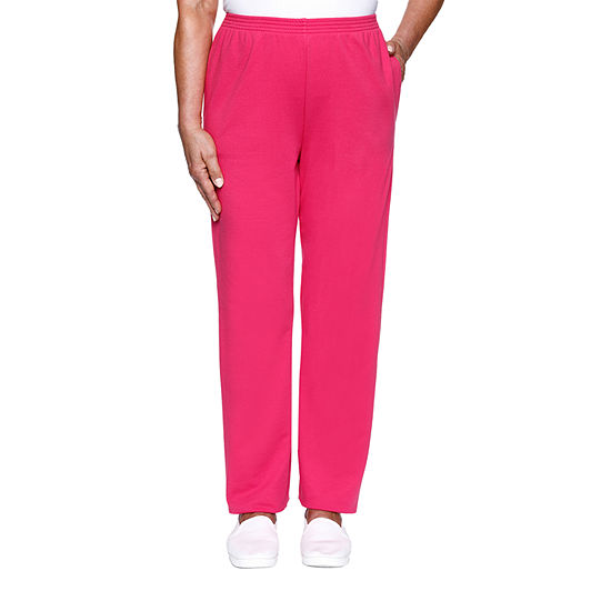Alfred Dunner Clean Getaway Womens Straight Pull-On Pants