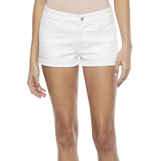 Arizona - Juniors Womens Mid Rise Shortie Short