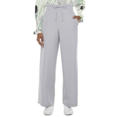 Worthington Womens Wide Leg Pull-On Pants