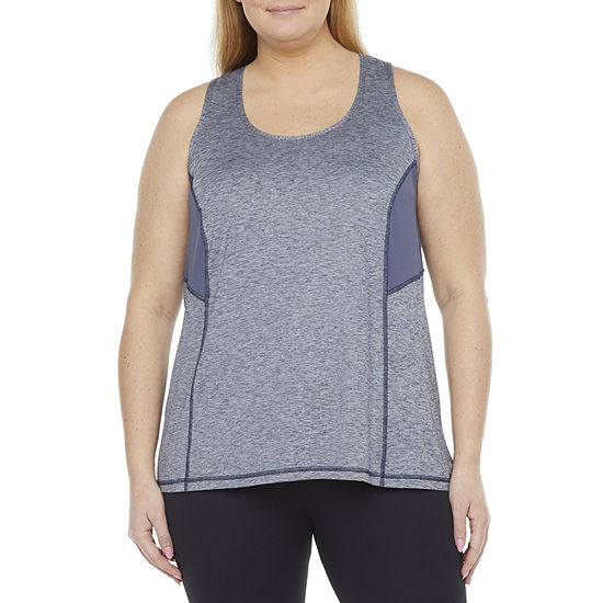 Xersion Everair Womens U Neck Sleeveless Tank Top Plus
