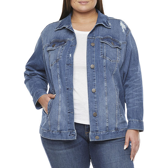 a.n.a Lightweight Denim Jacket-Plus