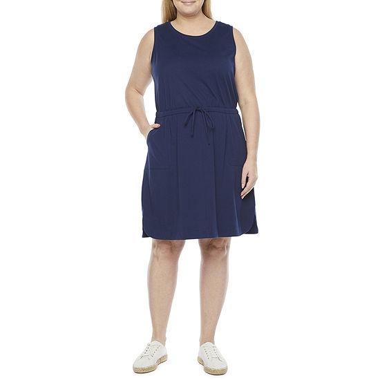 Liz Claiborne Plus Sleeveless Shift Dress