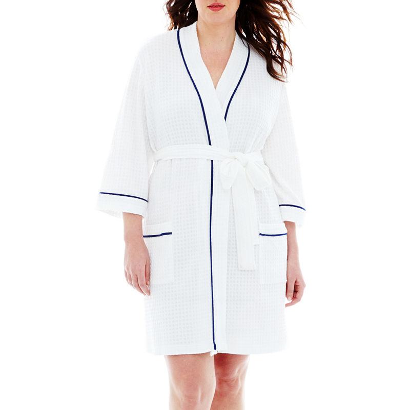 Liz Claiborne Spa Robe - Plus plus size,  plus size fashion plus size appare