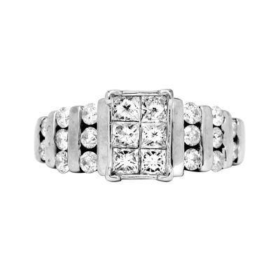LIMITED QUANTITIES 1 CT. T.W. Diamond 14K White Gold Engagement Ring
