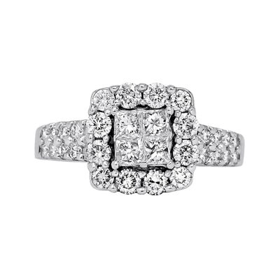 LIMITED QUANTITIES 1¼ CT. T.W. Diamond 14K White Gold Engagement Ring