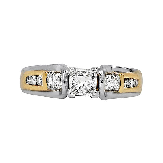 LIMITED QUANTITIES 3/4 CT. T.W. Diamond 14K Two-Tone Gold Engagement Ring