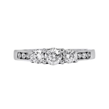 LIMITED QUANTITIES 1 CT. T.W. Diamond 10K White Gold Three-Stone Engagement Ring