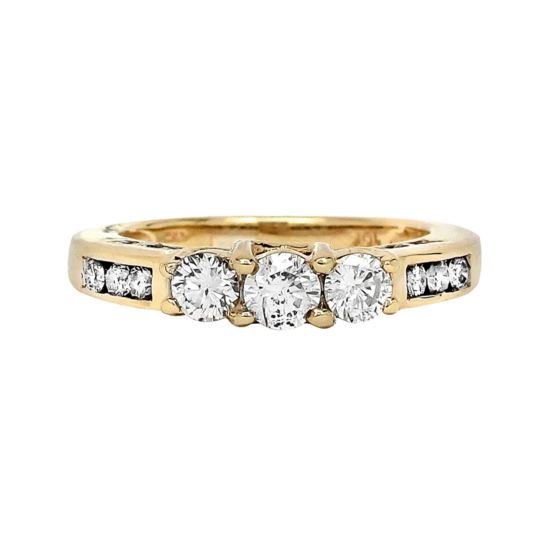 LIMITED QUANTITIES 1 CT. T.W. Diamond 10K Yellow Gold Three-Stone Engagement Ring