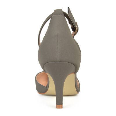 Journee Collection Ike Suedette Ankle-Strap Pumps