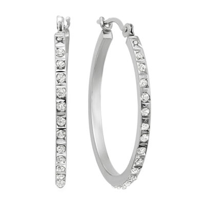 Diamond Fascination™ 14K Gold Diamond Accent Round Hoop Earrings