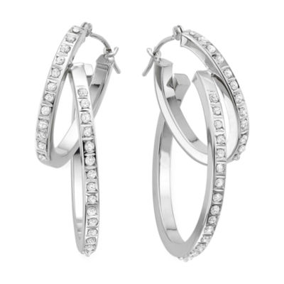 Diamond Fascination™ 14K Gold Interlocking Hoop Earrings