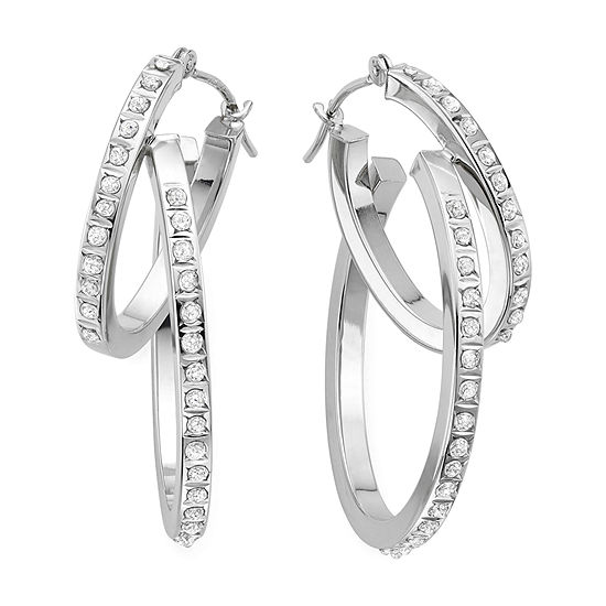 Diamond Fascination™ 14K Gold Interlocking Hoop Earrings