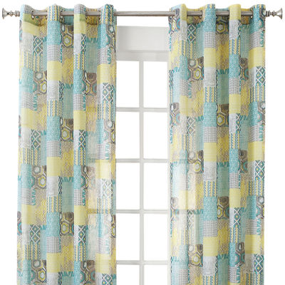Gonzales Grommet-Top Sheer Curtain Panel