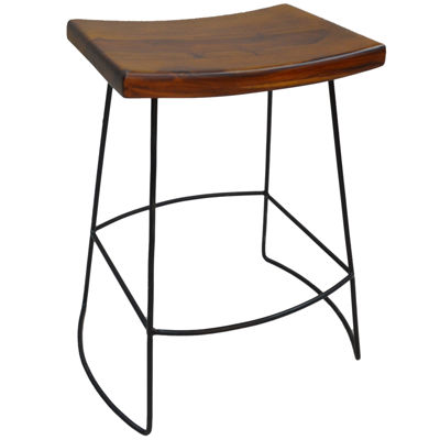 Reece Set of 2 Saddle-Seat Counter Stools