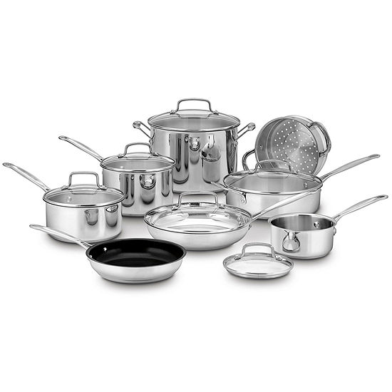 Cuisinart® Chef's Classic™ 14-pc. Stainless Steel Cookware Set