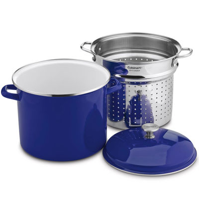 Cuisinart® Chef's Classic™ 3-pc. Enamel On Steel 12-qt. Steaming Set