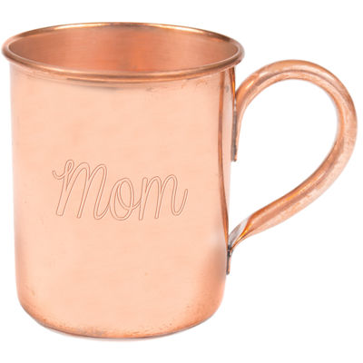 Cathy's Concepts Mom Moscow Mule Copper Mug with Polishing Cloth