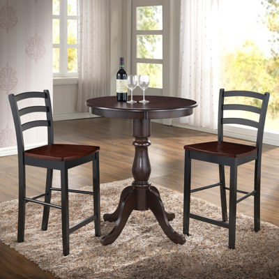 "Salem 30"" Round Pedestal Bar Table"